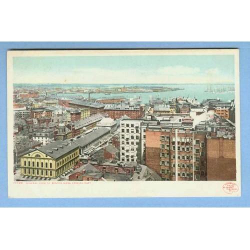 MA Boston General View Looking East Old Buildings Overlooking Harbor w/Old~895