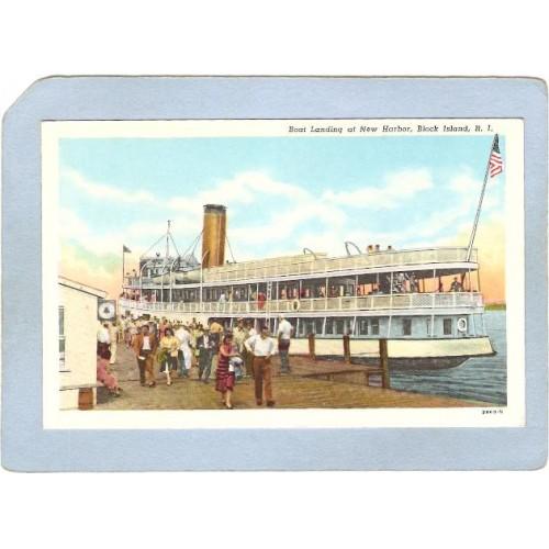 RI Block Island Boat Landing At New Harbor ri_box1~114