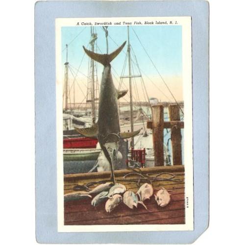 RI Block Island A Catch Swordfish & Tuna Fish ri_box1~119
