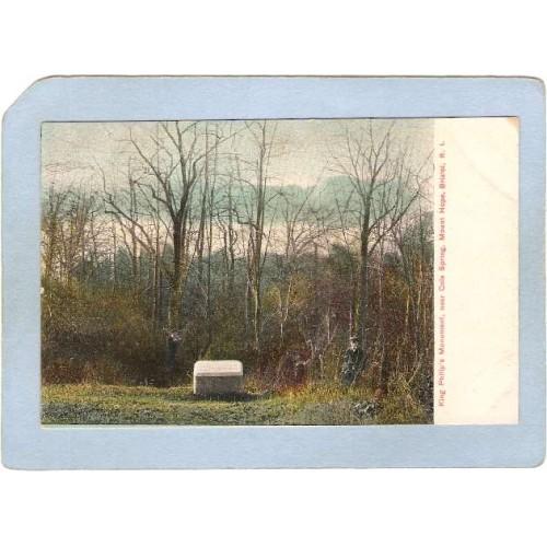RI Bristol King Phillip's Monument Ner Cole Spring Mount Hope ri_box1~140