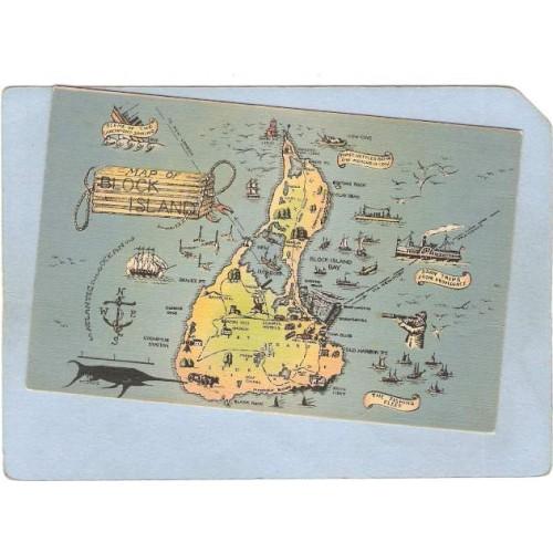 RI Block Island Map Of Block Island ri_box1~91