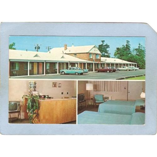 RI North Kingston Monte-Vista Motor Lodge Rt 17075 Post Road 3 View w/Olde~574