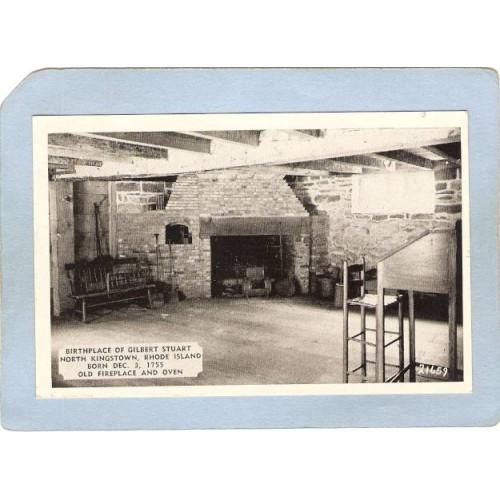 RI North Kingston Birthplace Of Gilbert Stuart Old Fireplace & Oven Photo ~585