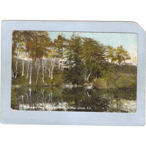 RI Lincoln Beechnut Trees On Banks Of Moshassuck River ri_box2~642