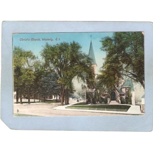 RI Westerly Christ's Church Street Scene Intersection ri_box3~1004