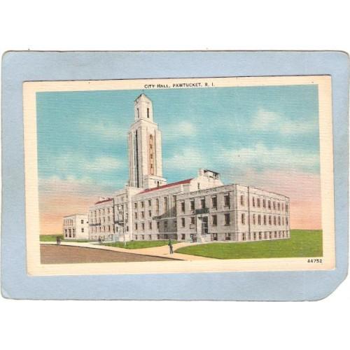 RI Pawtucket Postcard City Hall ri_box3~1041