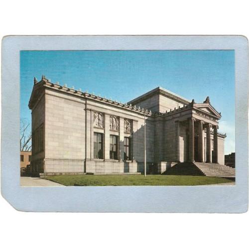 RI Pawtucket Postcard Sayles Public Library ri_box3~1042