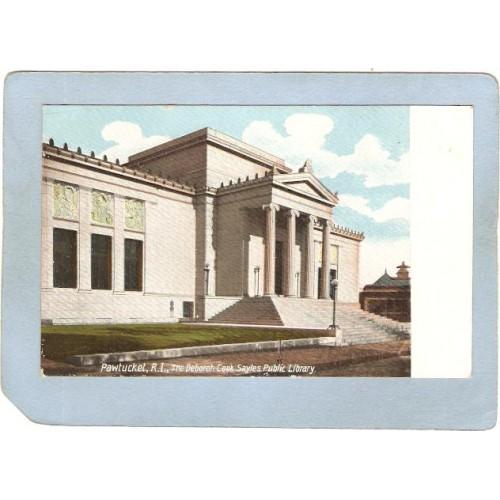 RI Pawtucket Postcard Deborah Cook Zayles Public LIbrary ri_box3~1056
