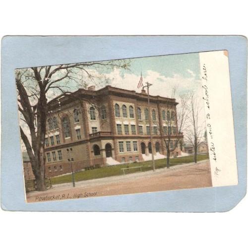 RI Pawtucket Postcard High School  ri_box3~1079