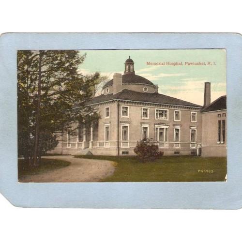 RI Pawtucket Postcard Memorial Hospital ri_box3~1088