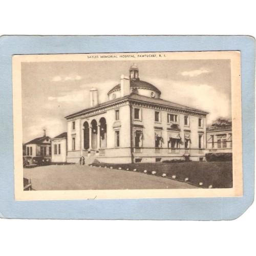 RI Pawtucket Postcard Sales Memorial Hospital ri_box3~1089