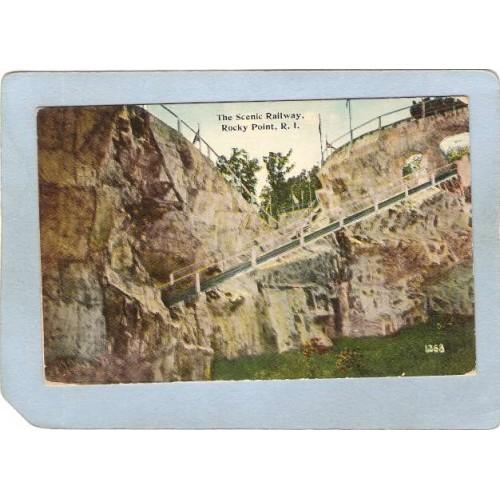 RI Rocky Point Postcard The Scenic Railway ri_box3~1128