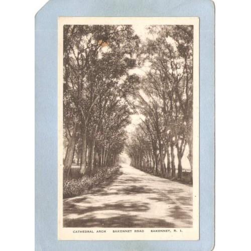 RI Sakonnet Postcard Cathedral Arch Sakonnet Road ri_box3~1133