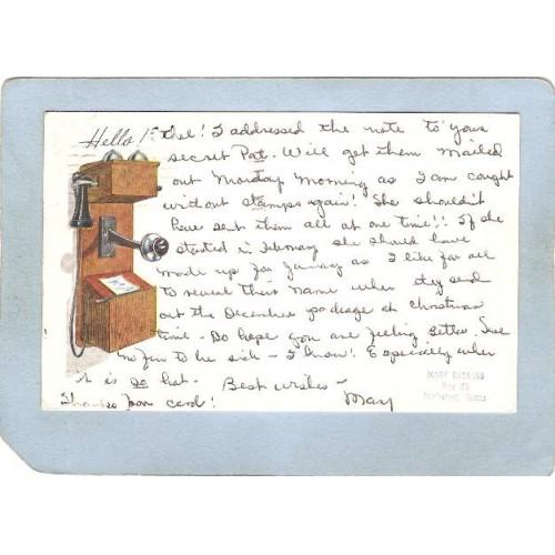 RI West Barrington Postcard Secret Pal Card From Mary Gaskins Box 38 Hurlw~1153