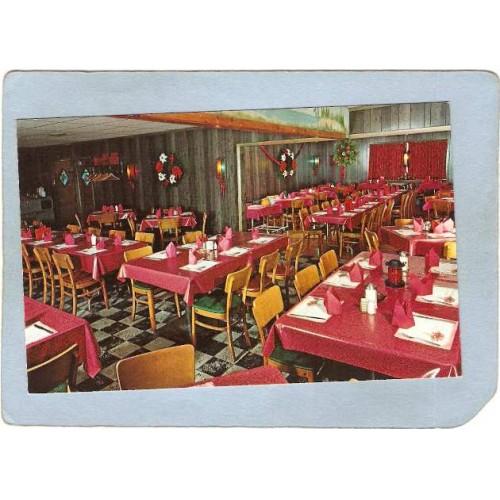 RI West Gloester Postcard State Line Seafood Restaurant U S Route 44 Putna~1154