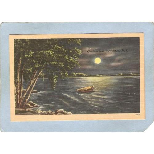 RI Warren Postcard Greetings From Warren R I ri_box3~1164
