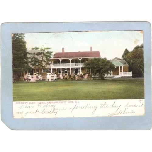 RI Narragansett Pier Country Club House Undivided Back ri_box3~802