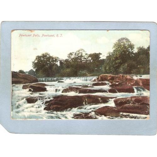 RI Pawtucket Postcard Pawtucket Falls ri_box3~926