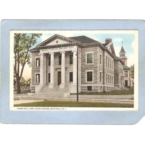 RI Westerly Town Hall & Court House ri_box3~983
