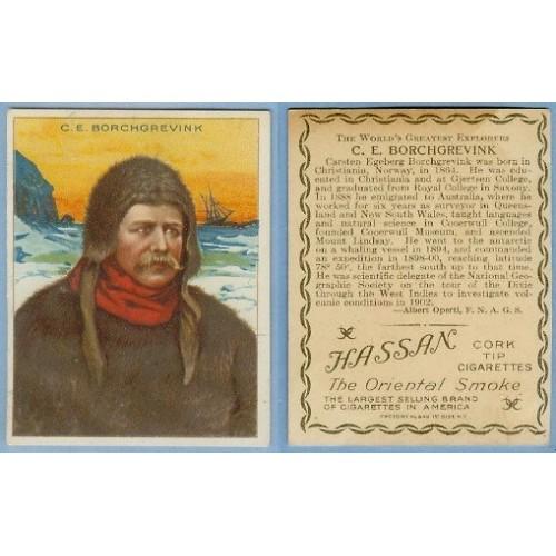 Tobacco Card ~ Company: American Tobacco Company Brand: Hassan Cork Tip Ci~6