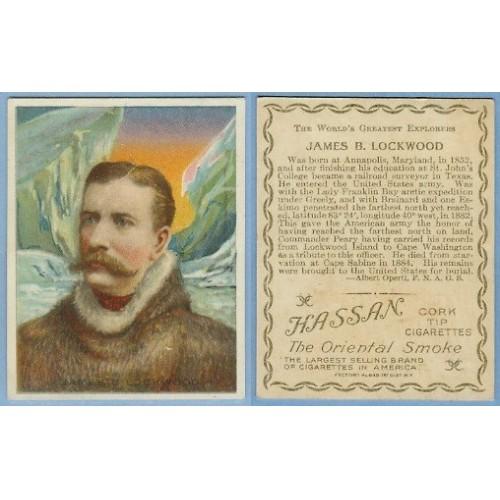 Tobacco Card ~ Company: American Tobacco Company Brand: Hassan Cork Tip Ci~7