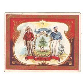 Tobacco Card ~ Company: American Tobacco Company Brand: Helmar Turkish  Ci~46