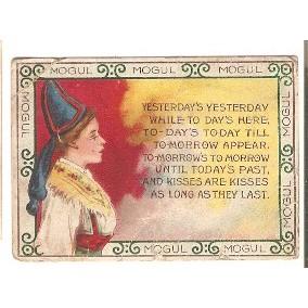 Tobacco Card ~ Company: American Tobacco Company Subsidiary: S. Anargyros ~90