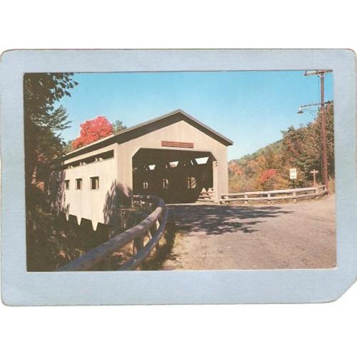 MA Charlemont Covered Bridge Postcard Bissell Bridge World Guide Number 21~198