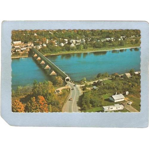 CAN Hartland Covered Bridge Postcard Longest Covered Bridge In The World O~22
