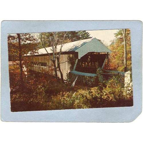 NH Jackson Covered Bridge Postcard  World Guide Number  coveredbridge_box1~363