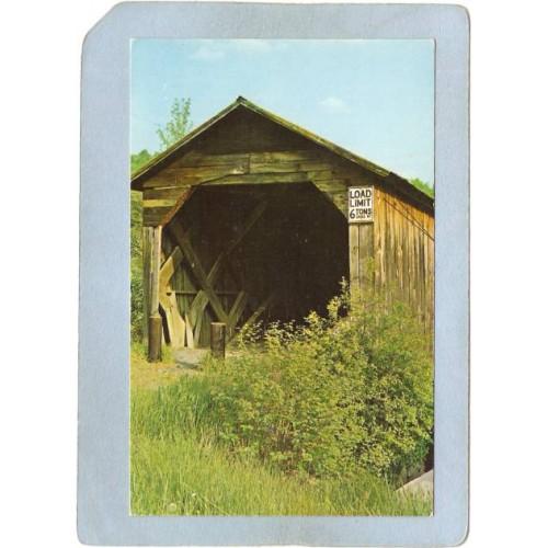 NH Landon Covered Bridge Postcard Bridge Over Cold River World Guide Numbe~386
