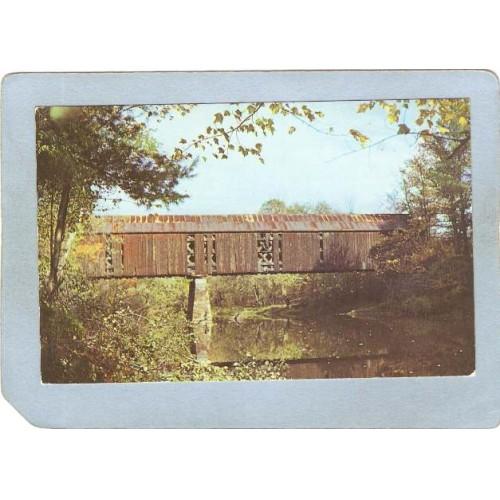 NH Swanzey Covered Bridge Postcard Covered Bridge World Guide Number  cove~446