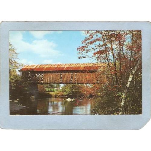 NH Westport Covered Bridge Postcard Covered Bridge World Guide Number  cov~465