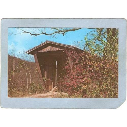 GA Helen Covered Bridge Postcard Sautee Creek Bridge Or Mossy Creek Bridge~46