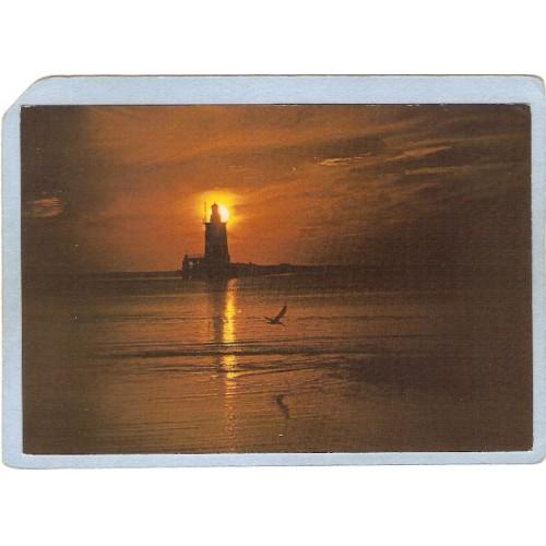 DE Generic Lighthouse Postcard Showing a lighhouse on Delaware-Maryland Co~116