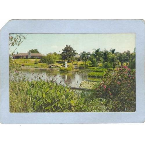 FL Winter Haven Lighthouse Postcard Winter Gardens Park w/miniture lightho~118