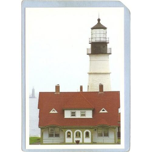 ME Portland Lighthouse Postcard Portland Head Lighthouse lighthouse_box1~143