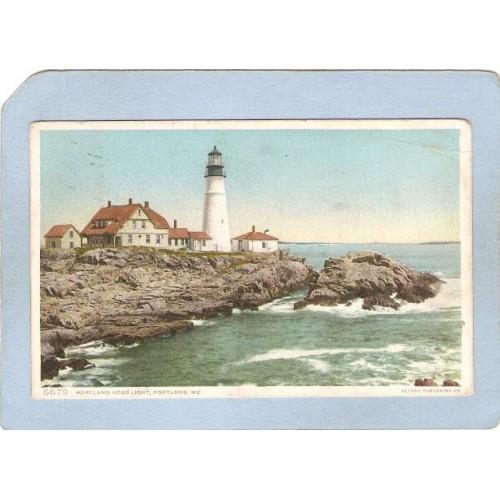 ME Portland Lighthouse Postcard Portland Head Lighthouse lighthouse_box1~183