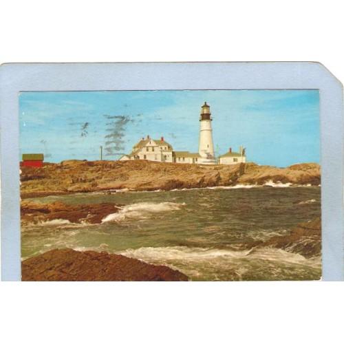 ME Portland Lighthouse Postcard Portland Head Lighthouse lighthouse_box1~190
