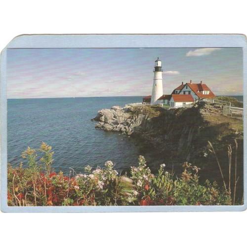 ME Portland Lighthouse Postcard Portland Head Lighthouse lighthouse_box1~201