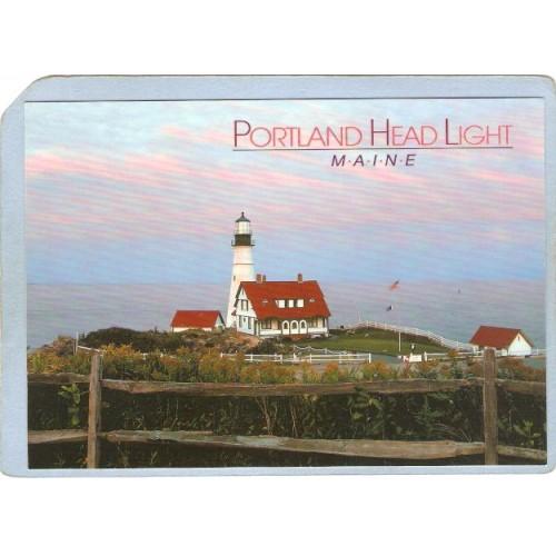 ME Portland Lighthouse Postcard Portland Head Lighthouse lighthouse_box1~207