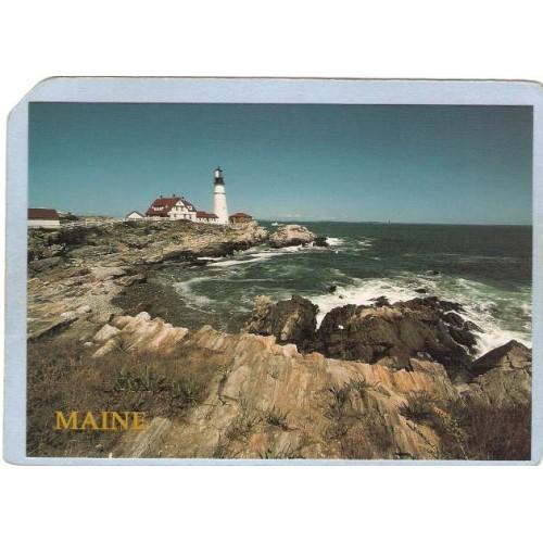 ME Portland Lighthouse Postcard Portland Head Lighthouse lighthouse_box1~213