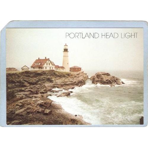 ME Portland Lighthouse Postcard Portland Head Lighthouse lighthouse_box1~225