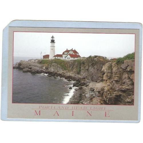 ME Portland Lighthouse Postcard Portland Head Lighthouse lighthouse_box1~229