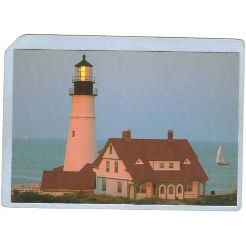 ME Portland Lighthouse Postcard Portland Head Lighthouse lighthouse_box1~243