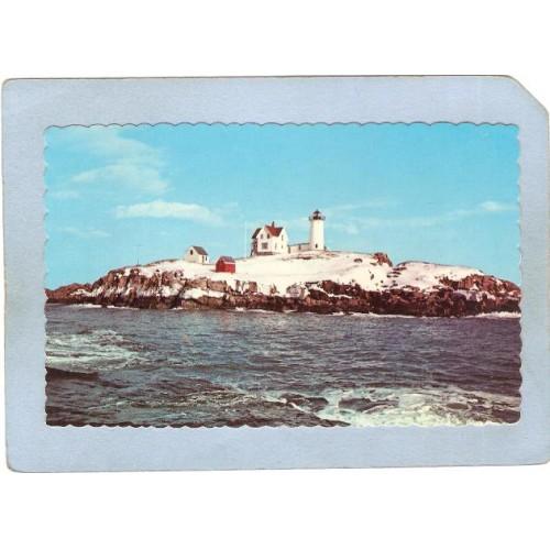 ME York Beach Lighthouse Postcard Nubble Light Lighthouse lighthouse_box1~287