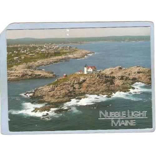ME York Beach Lighthouse Postcard Nubble Light Lighthouse lighthouse_box1~296