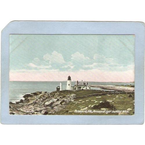 ME Pemaquid Point Lighthouse Postcard Pemaquid Lighthouse lighthouse_box1~336