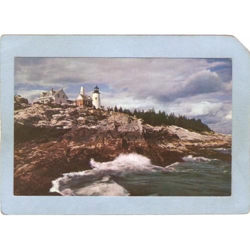 ME Pemaquid Point Lighthouse Postcard Pemaquid Lighthouse lighthouse_box1~339