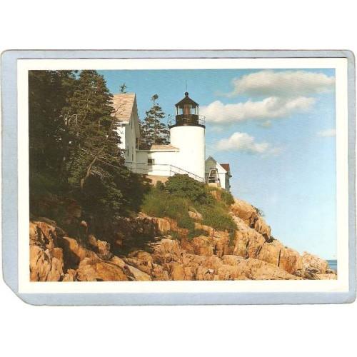 ME Mt Desert Island Lighthouse Postcard Bass Harbor Head Light lighthouse_~353